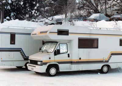 1992 mit 2 Concords im Wintertest