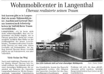 1997 Artikel im Langenthaler Tagblatt