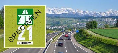 Autobahnvignette Schweiz 2021